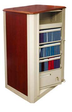 Times2 Rotary Cabinet with Wood-Tek