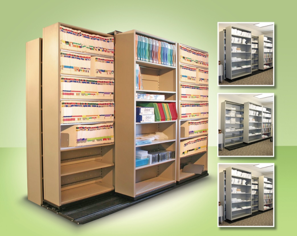 Sliding shelving