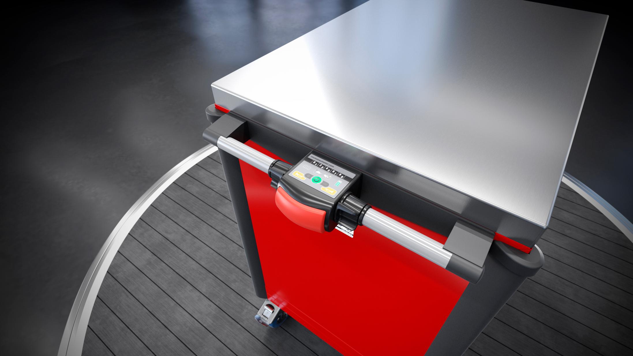 Motorized toolbox controls