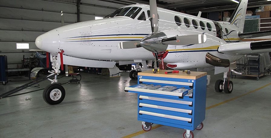 Mobile Cabinet in hangar