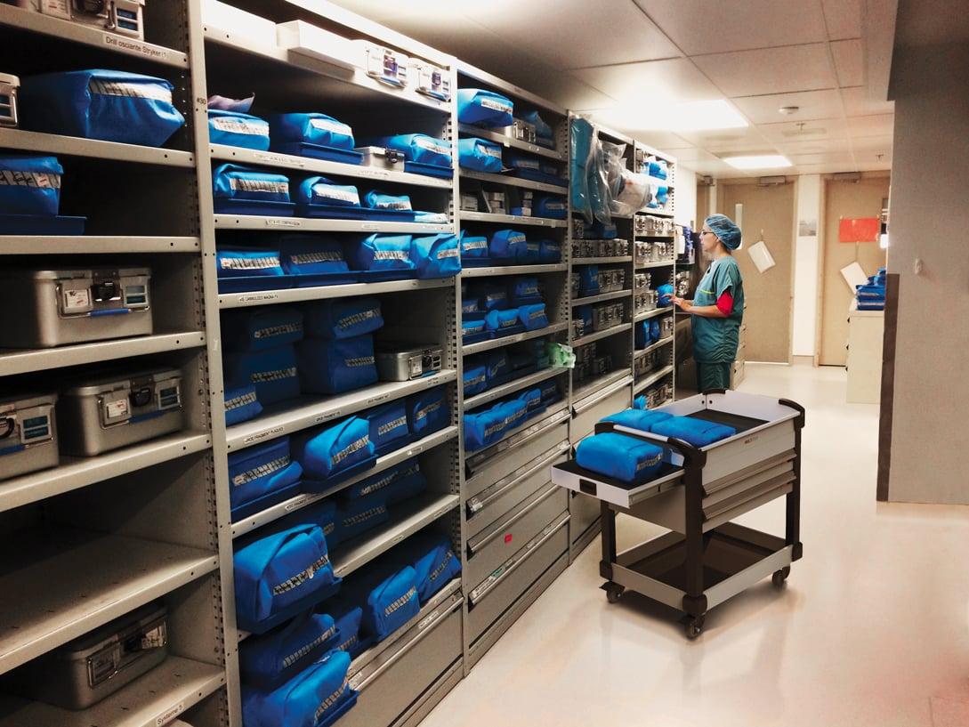 Medical shelving-carts