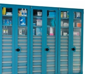 SurgicalSupply-antimicrobial modular cabinets