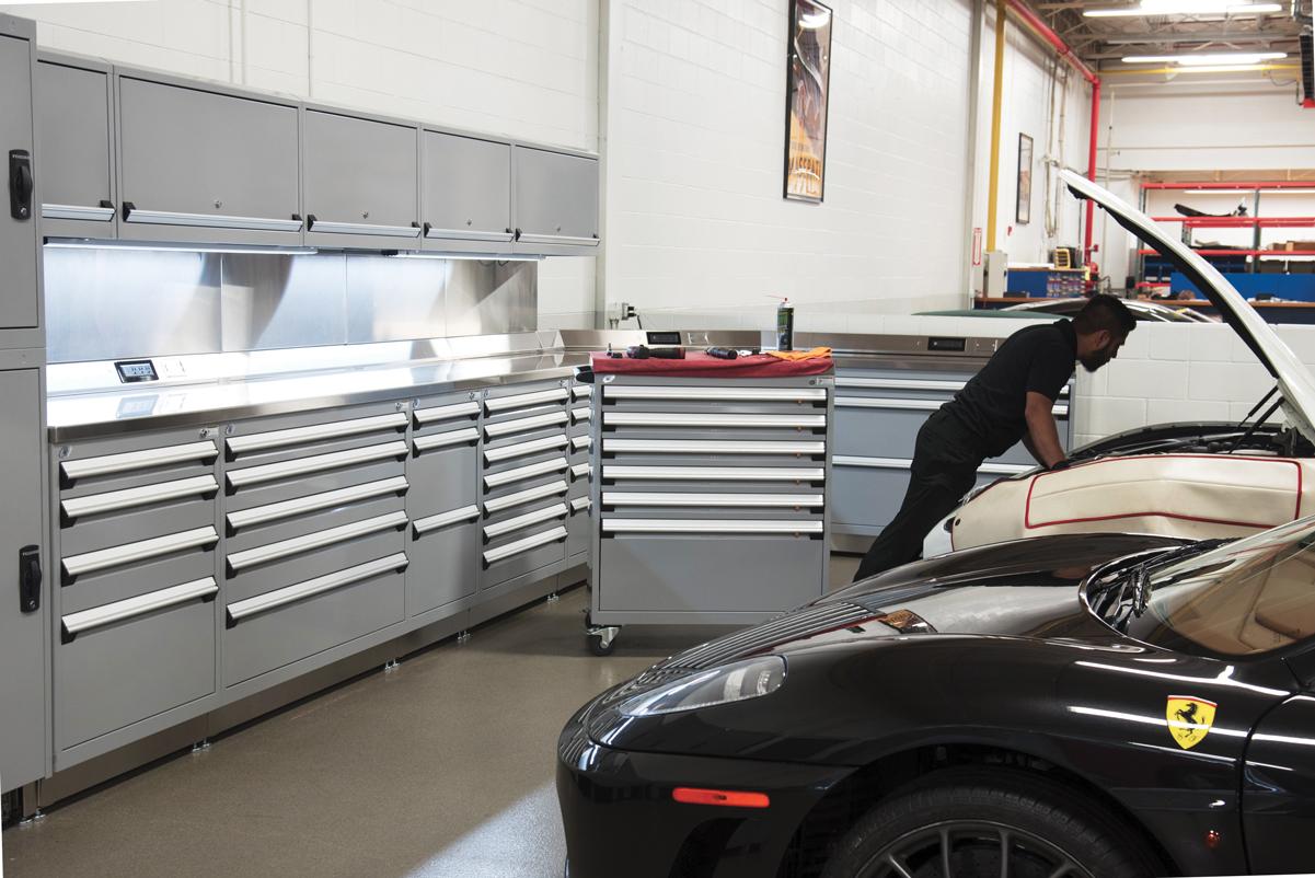 Auto Service Bay Tool Storage
