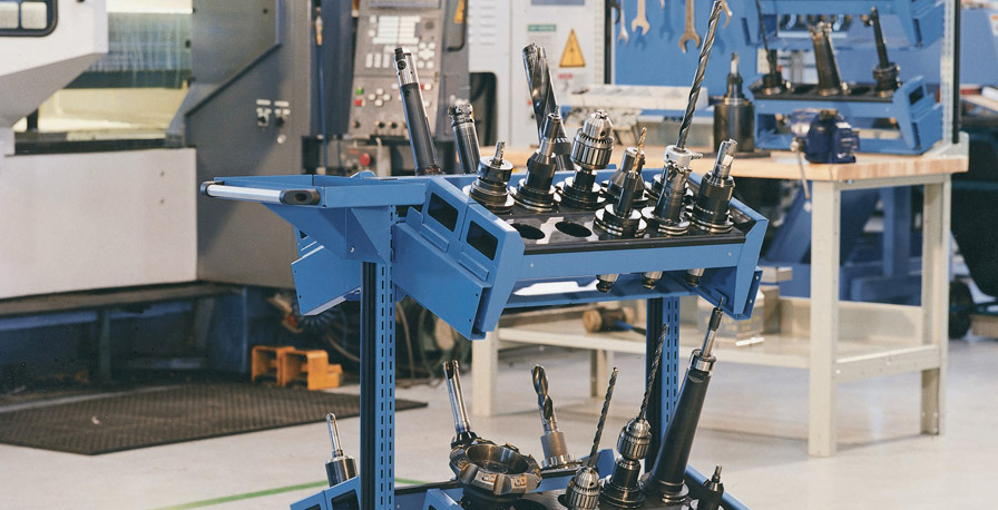 CNC Tool Racks on Cart