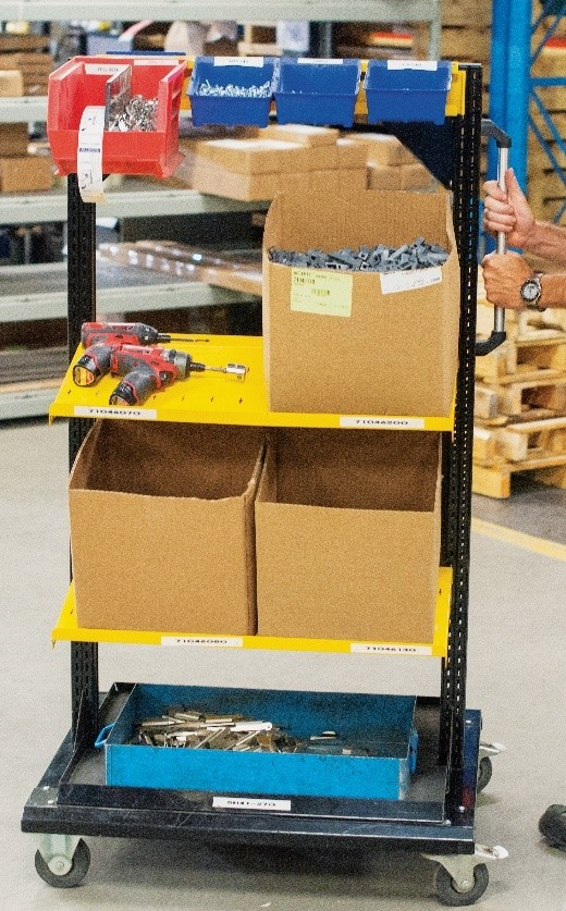 Freestanding Tool Cart