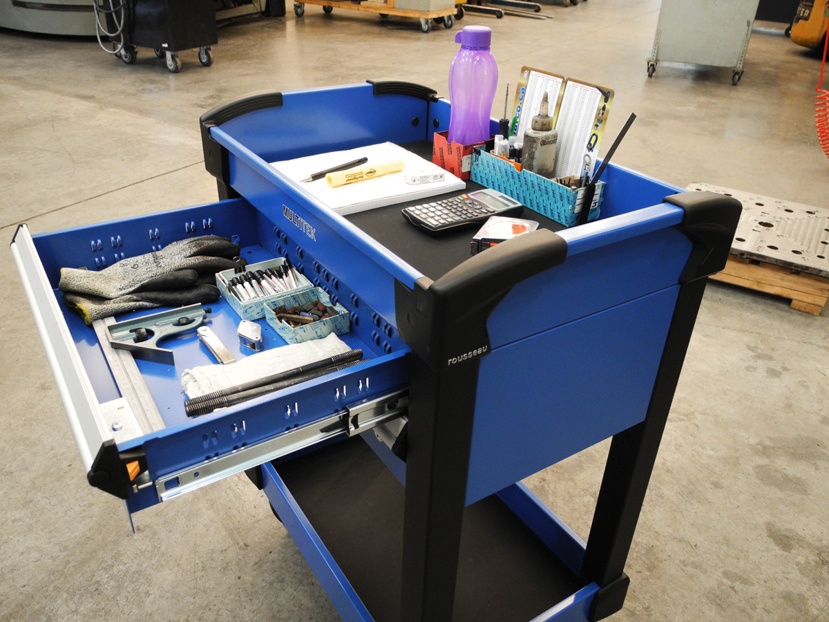 Modular Drawer in Mobile Tool Cart