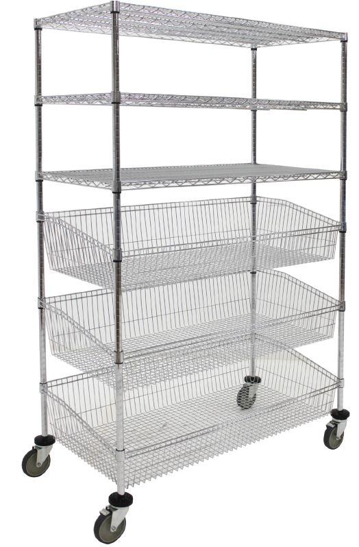 Wire Cart-Combo Basket Unit