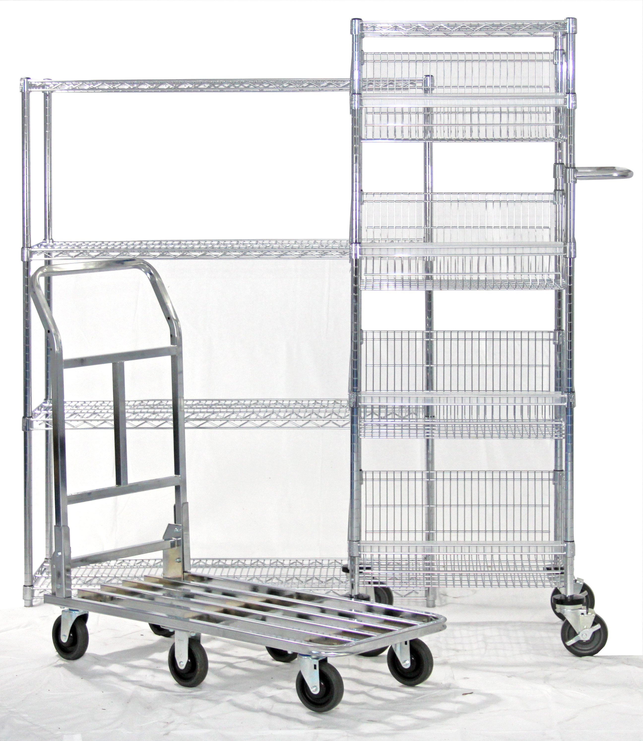 Multi-pick wire Cart with dolly