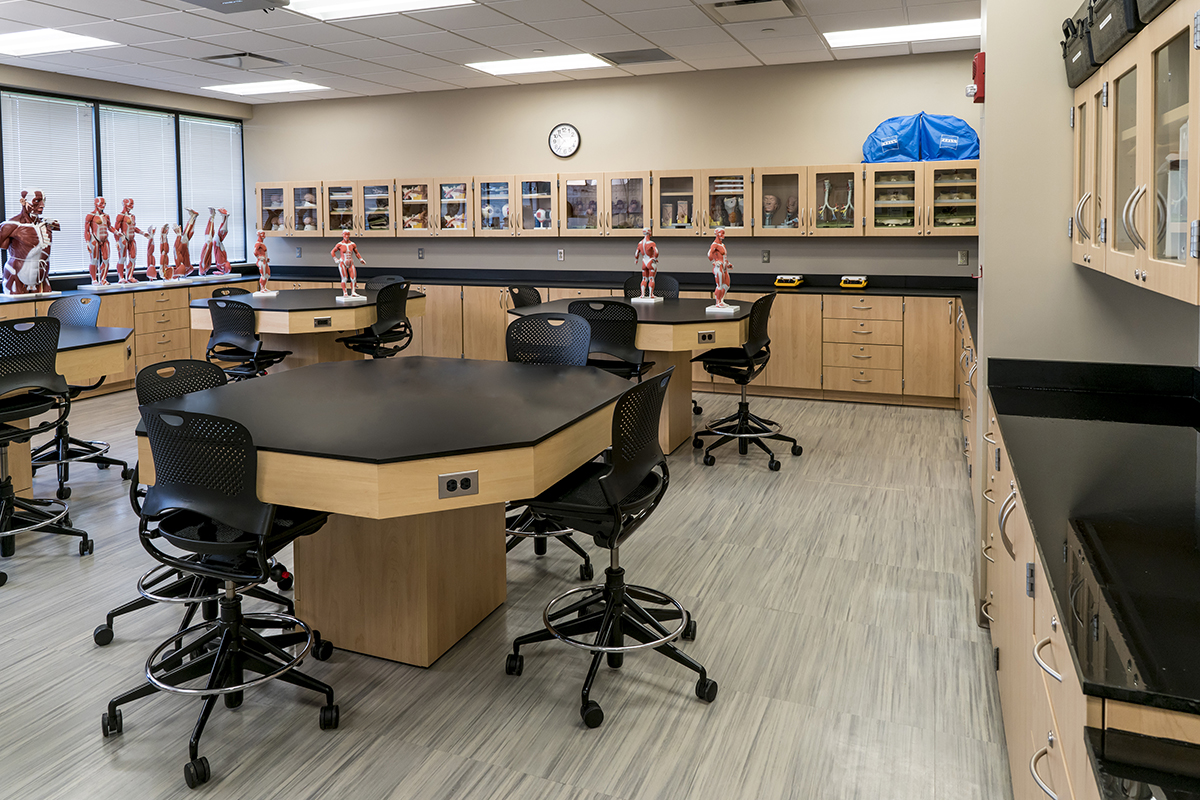 Casework classroom lab