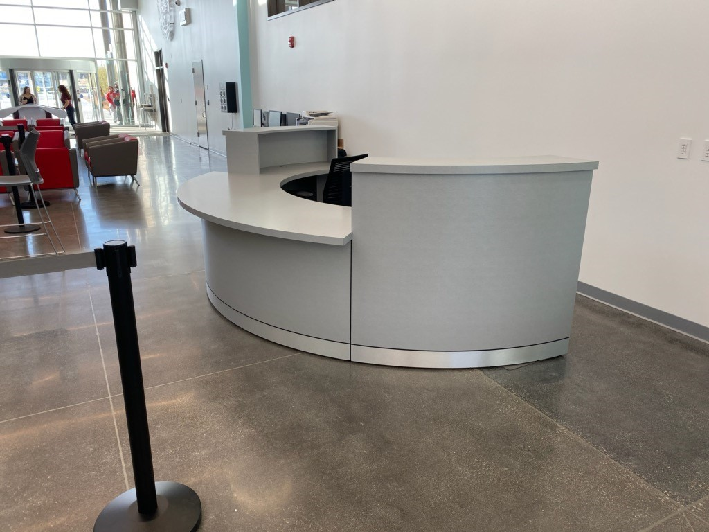 Custom Casework Reception Desk