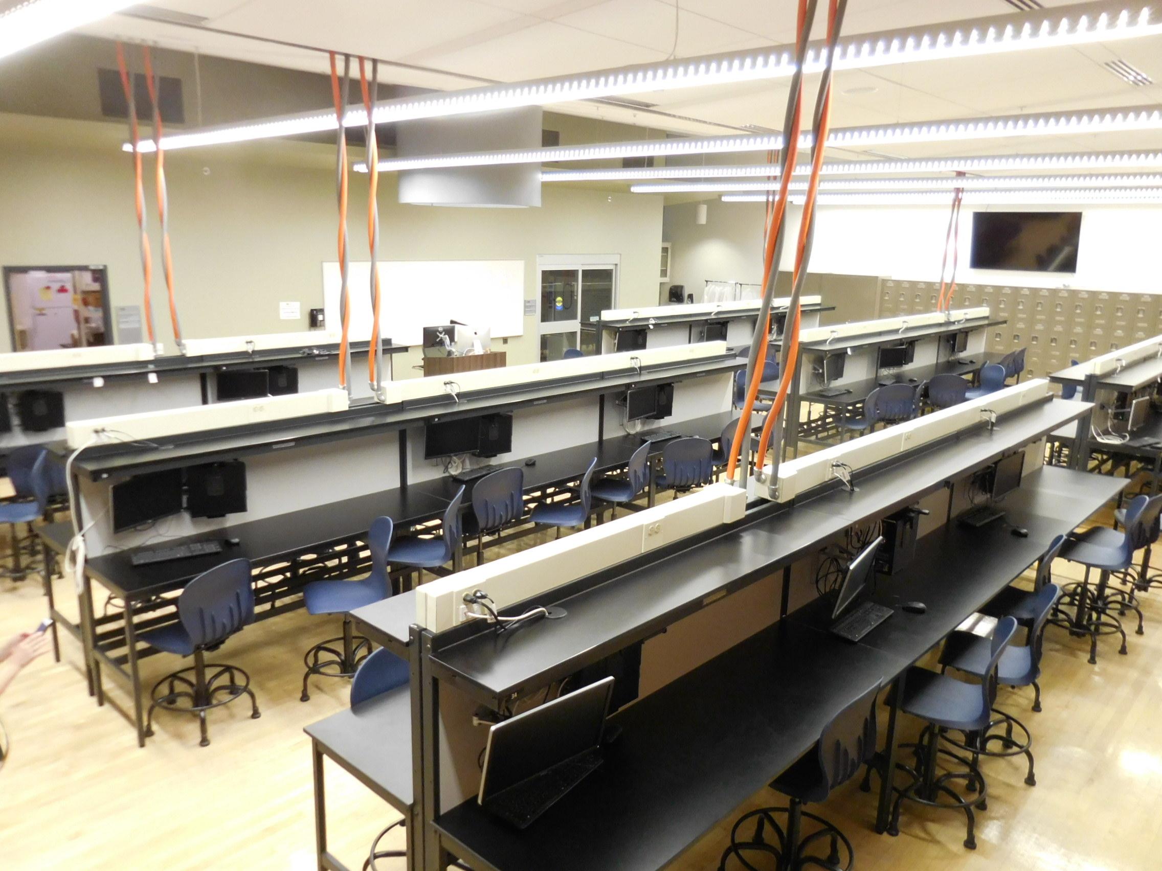 Millwork lab workbenches