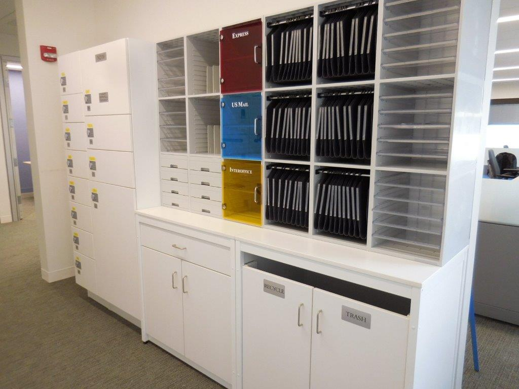 Millwork mail room Sorters/Cabinets