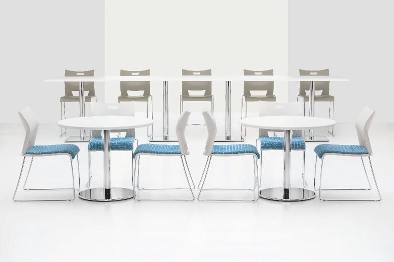 Break room-meeting tables