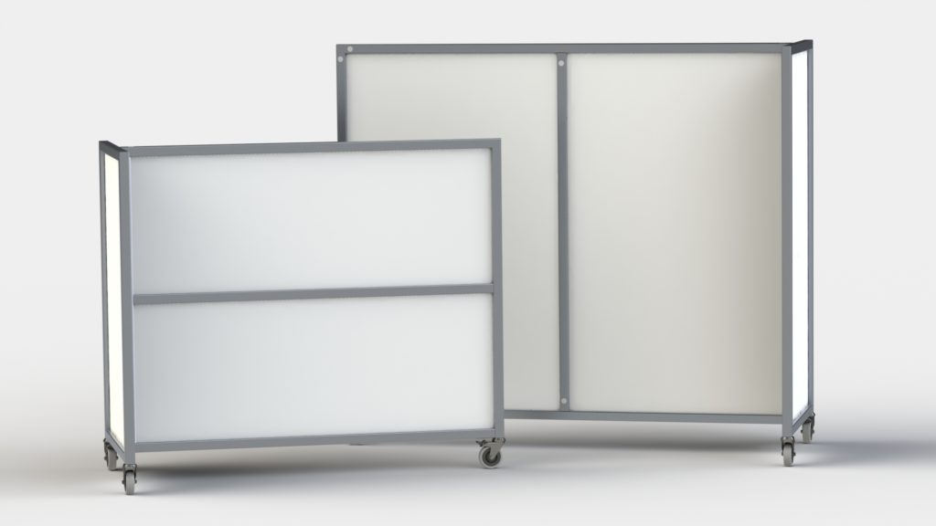 Mobile Walls-T-Wall-White