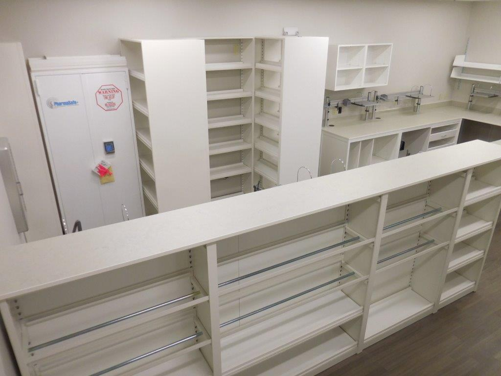 Modular Millwork Pharmacy Storage