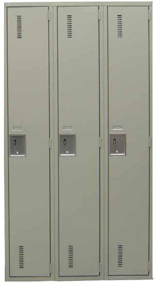 Metal gray locker