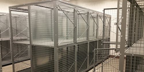 Double-Tier-Military-Welded Wire Lockers