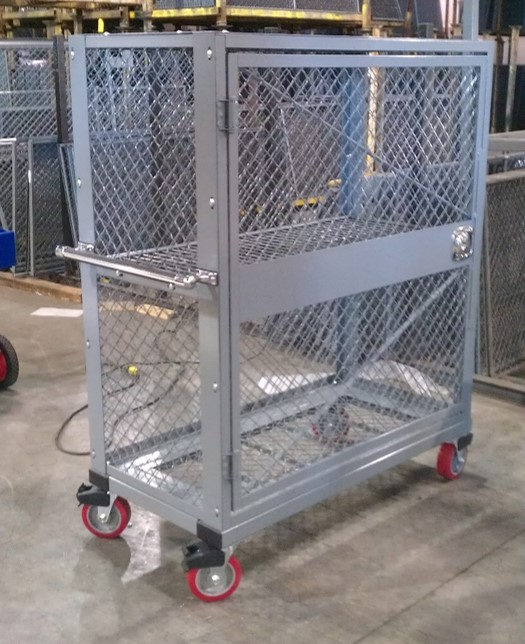 Commercial mobile wire locker