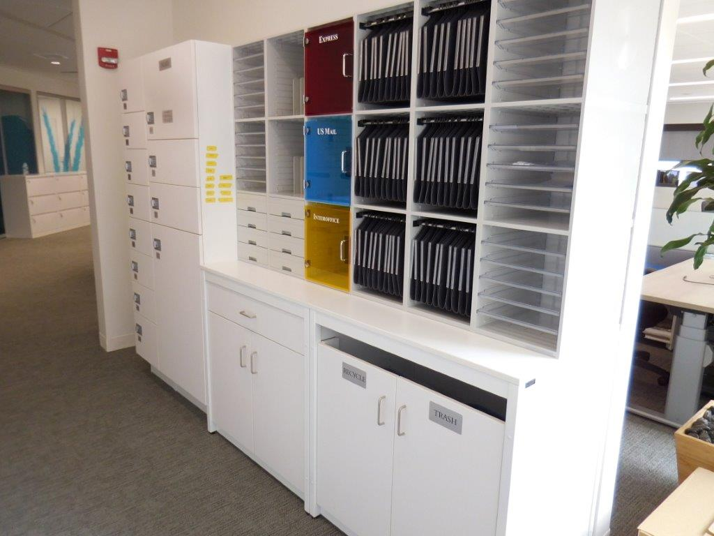 Millwork with Mail Sorter