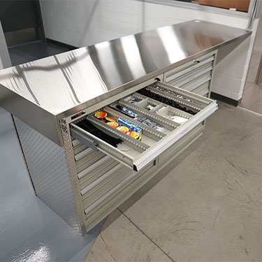 Stainless Steel cabinet-modular drawers