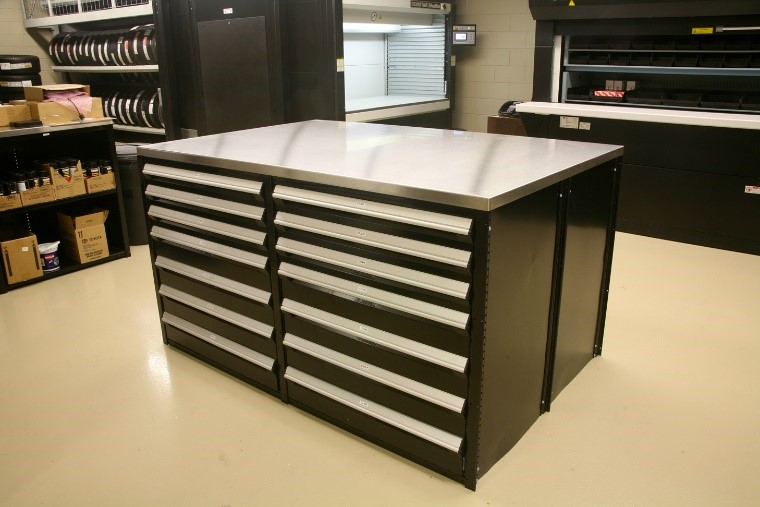 Black Cabinet with Drawers