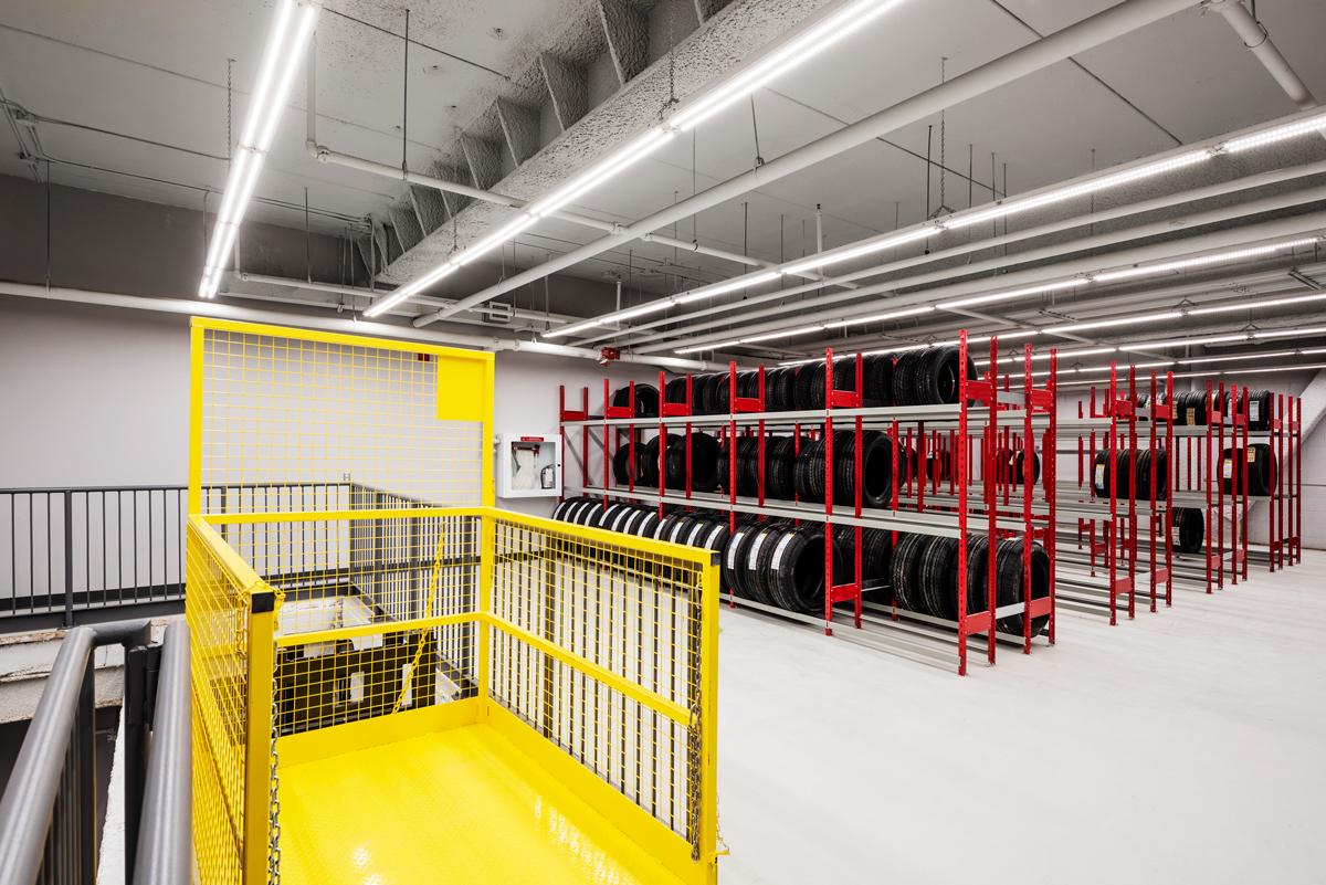 Tire Racks-2nd level storage