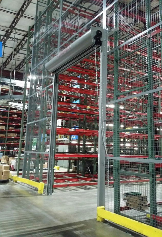 Full Height Wire Partition Enclosure