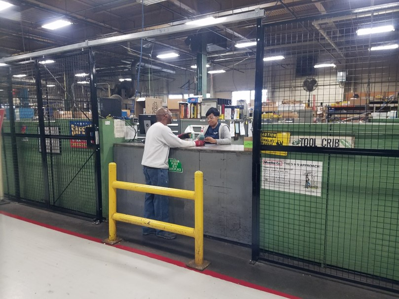 Tool Crib Wire Partition
