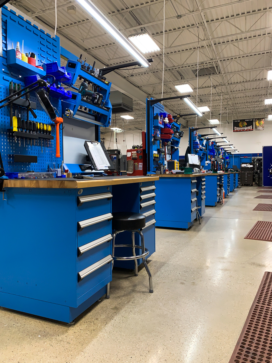 Work centers-manufacturing CNC tools