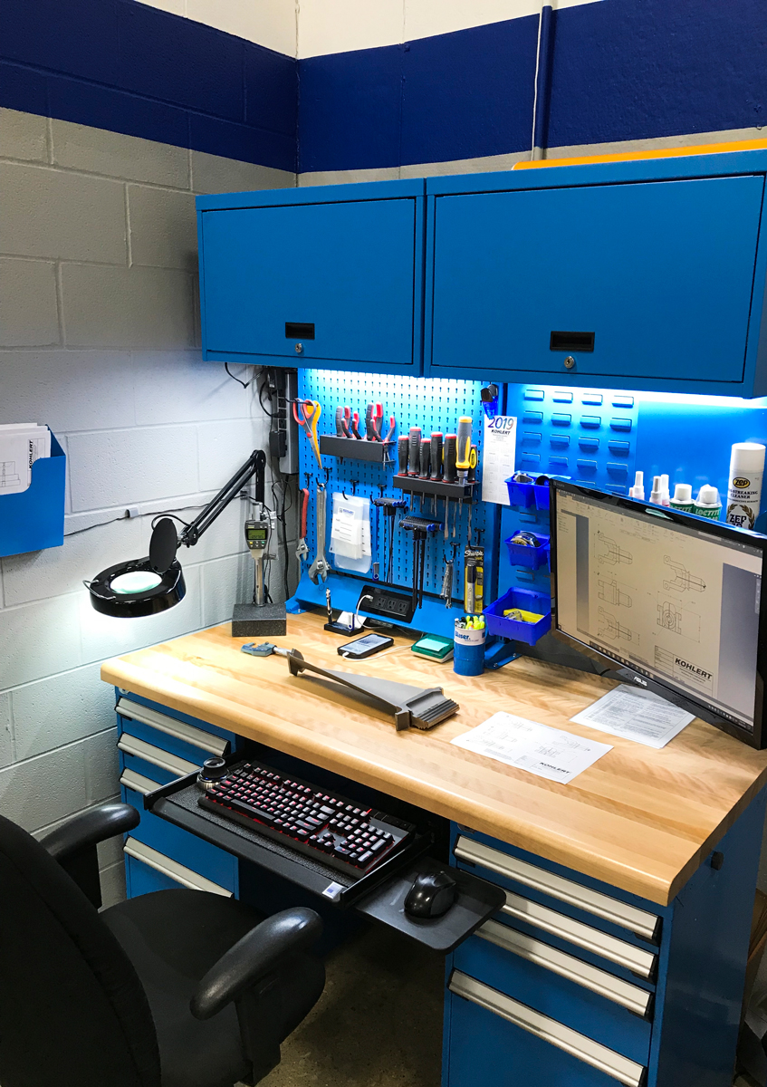 Work center with multiple accessories