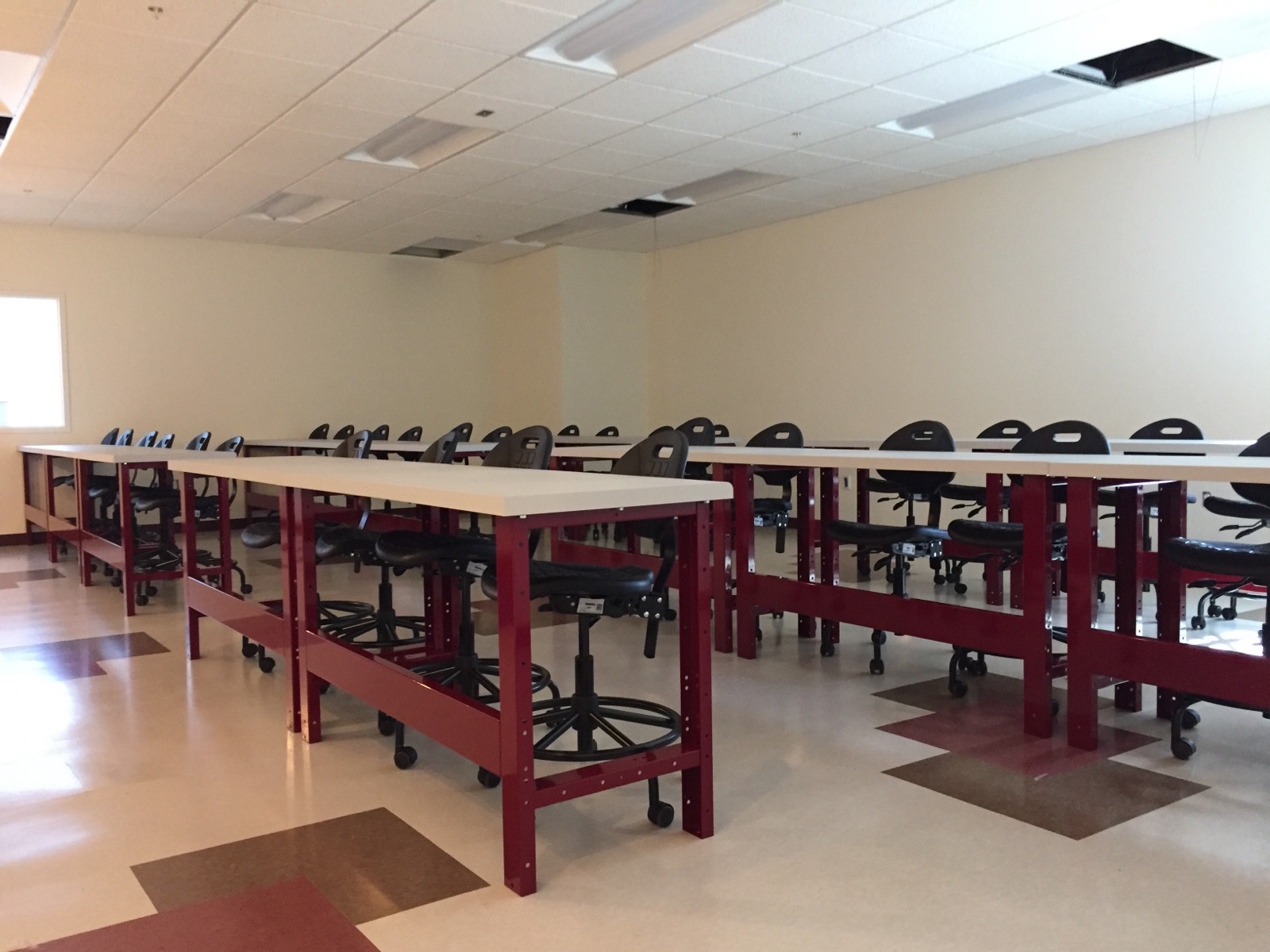 VVC auto classroom-workbenches