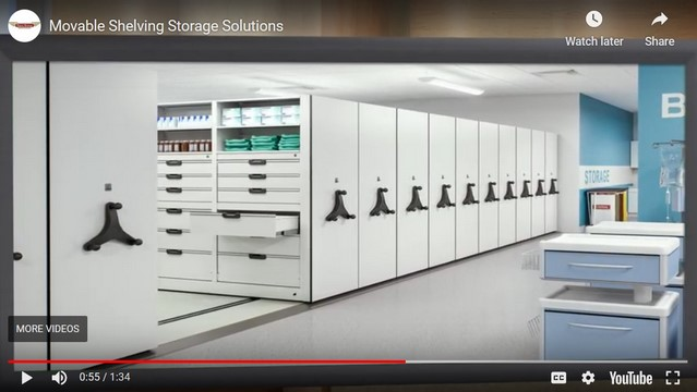 Video-Movable Shelving