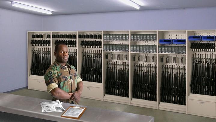 Aurora-weapons-storage-shelving